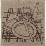 Paño de cocina jacquard plats