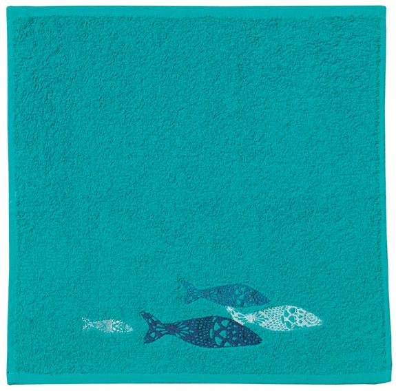 Paño de cocina bordado peces
