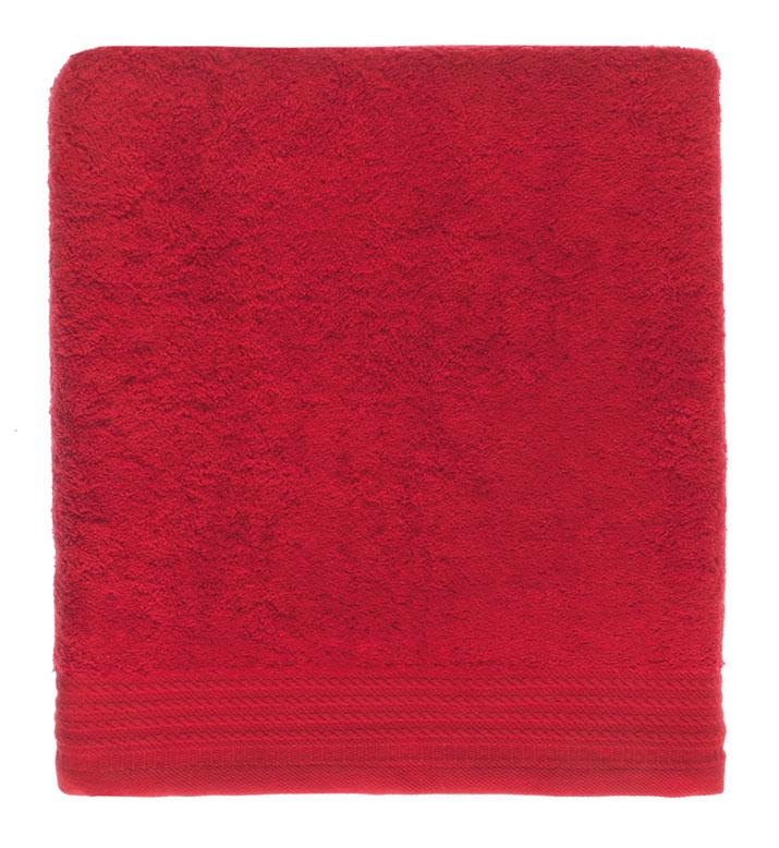 Toalla lisa color rojo 55